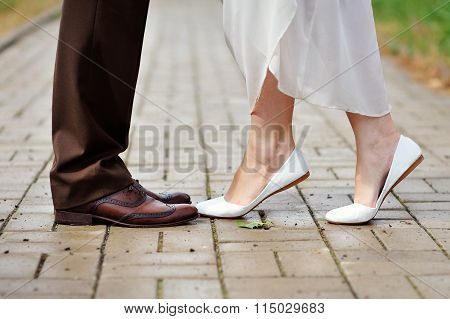 Shoes The Bride And Groom Dance