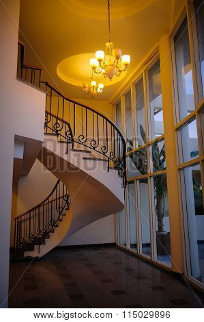 Egypt, Sharm el-Sheikh on 14 March 2014 Hotel Xperience Kiroseiz Parkland 5: Spiral Staircase