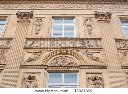 Beautiful Architecture, Sculpture On The Wall, A Bas-relief