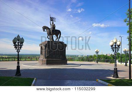 Vladimir, Vladimir region, Russia - June 17, 2015:  Prince Vladimir.