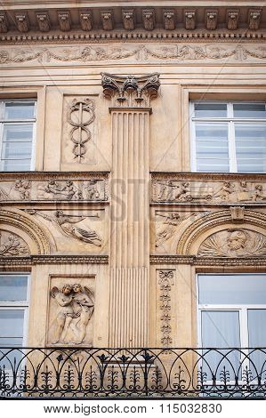Architectural Old Sand-colored Column