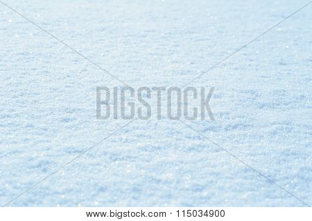 Texture Of Snow In The Winter