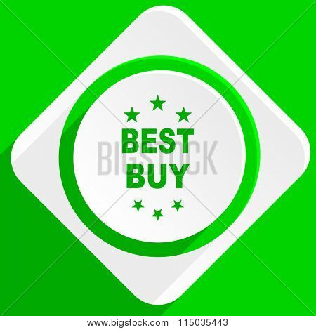 best buy green flat icon