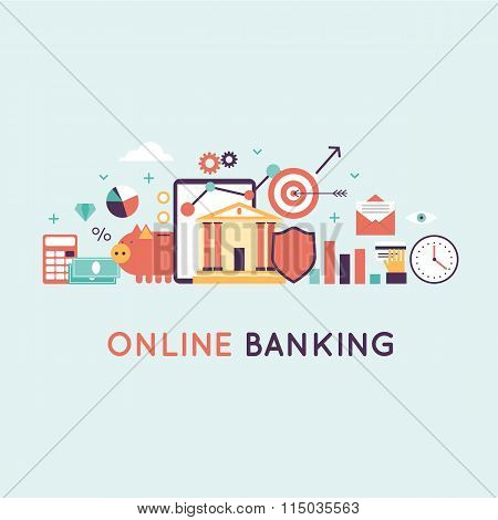 On-line banking, on-line payment