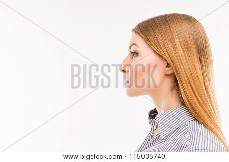 Side-face Portrait Of A Confident Woman