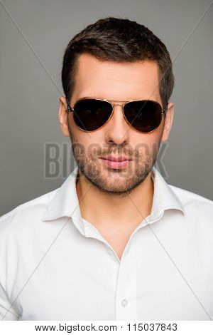 Close Up Photo Of Handsome Man In Spectacles
