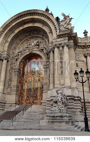 Petit Palais Entrance In Paris