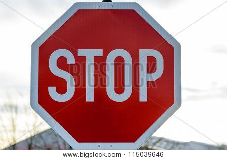 Red Stop Sign Outdoors