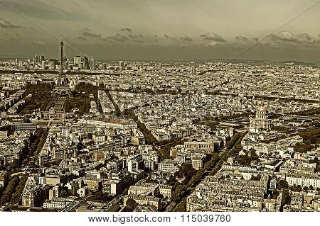 Old Photo With Aerial View, From Montparnasse Tower