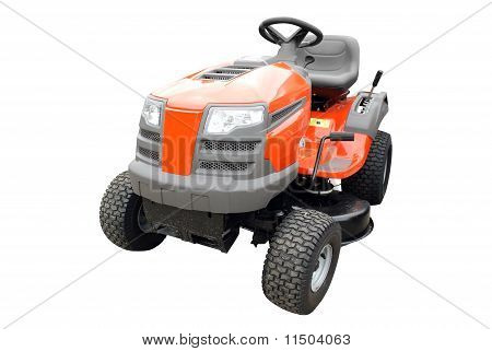 lawn mower front view isolated