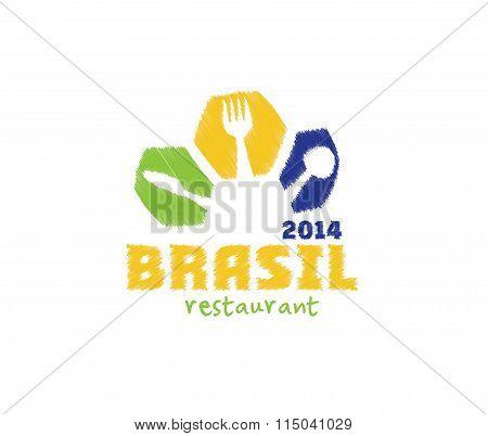 Vector Illustration Brasil 2014 Restaurant