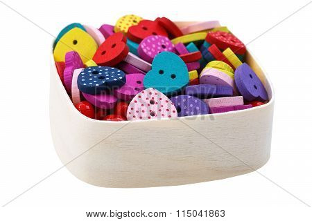 Box With Heart Shaped Buttons