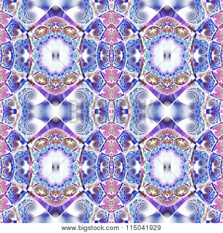 Beautiful Fractal Pattern With Shiny Strips. Collection -  Rhinestones. Artwork For Creative Design