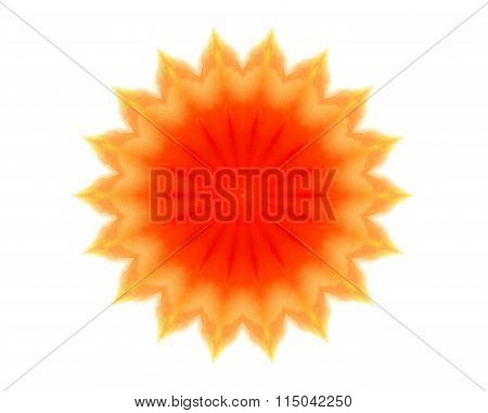 Abstract Bright Orange Concentric Shape