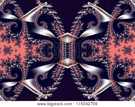 Fabulous Background. Satin Pattern With Spirals. Artwork For Creative Design, Art And Entertainment