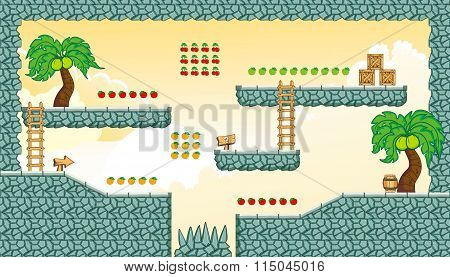 Platform Game Tileset 20.eps