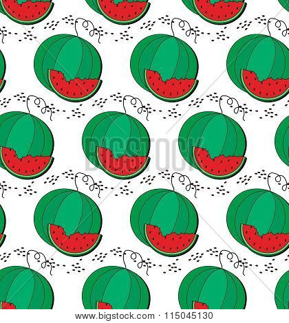 Watermelon and slice pattern