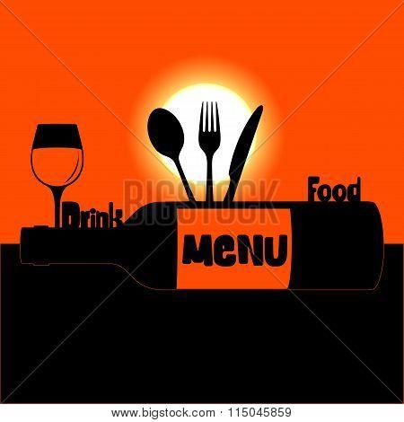 restaurant menu sunset or sunrise