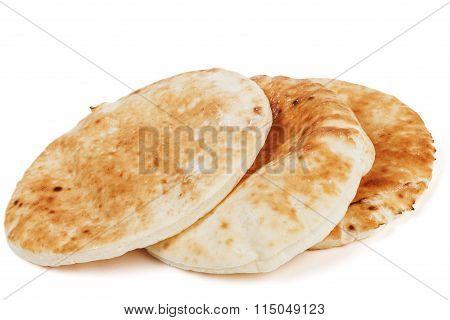 Traditional Pita On White