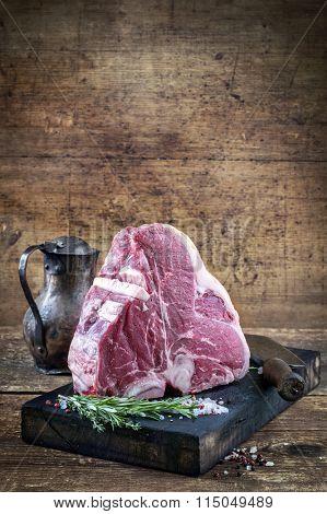 Raw Porterhouse Steak