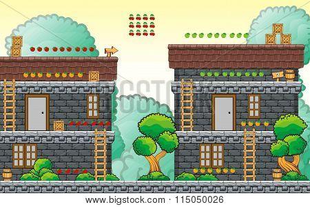 platform game tileset 11