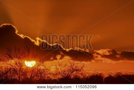 A Winter Sunset Sun