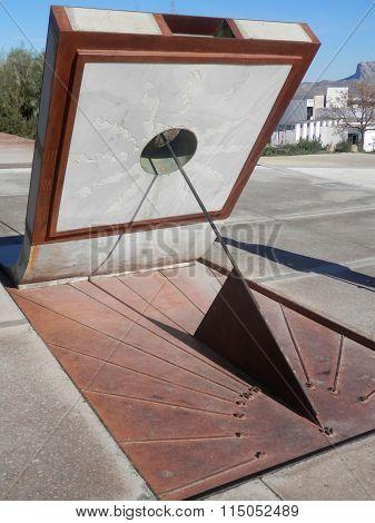 Modern Sculptured Sundial