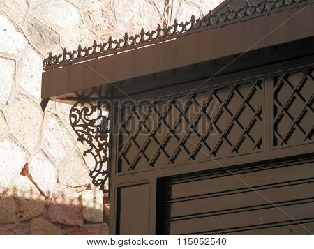 Ornate Ironwork On Kiosk