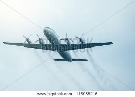 Flight Of The Retro Passenger Plane.