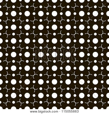 Seamless Pattern Of Different Sized Circles And Semicircles