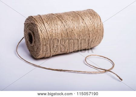 Rope Coil Isolated On A White Background