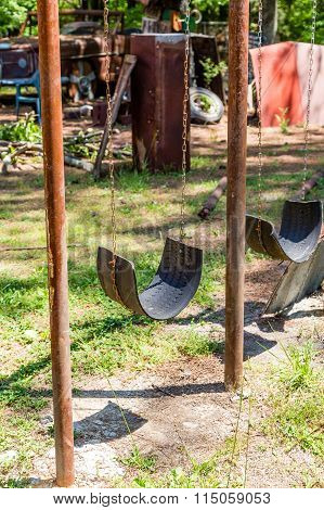 Swing Made From Tire