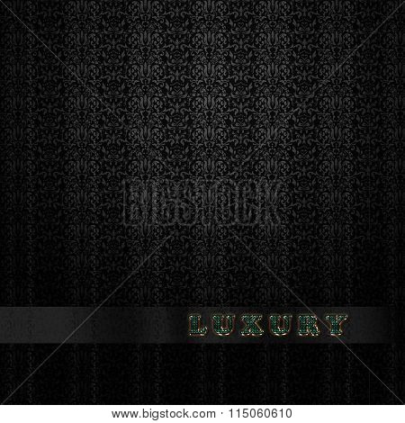 Gothic Damask luxury wallpaper background with word