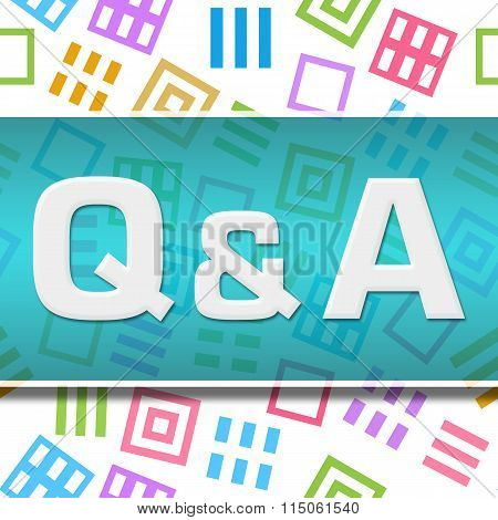 Q And A Colorful Abstract Squares Background