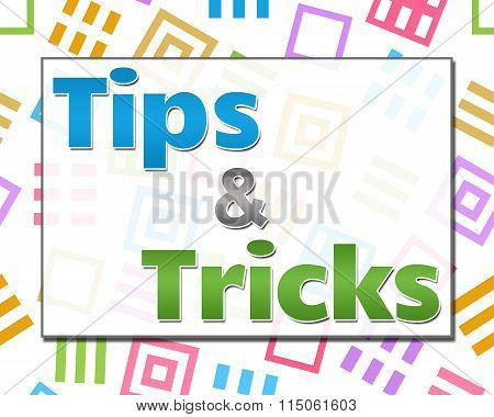 Tips And Tricks Colorful Abstract Squares Background