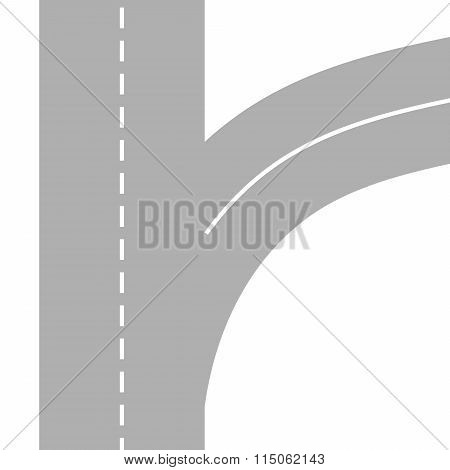 Vector Illustration of winding abstract road