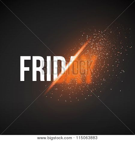 Friday Sale Energy Explosion Vector Illustration