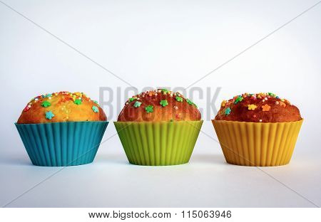 Appetizing Sweet Cupcakes