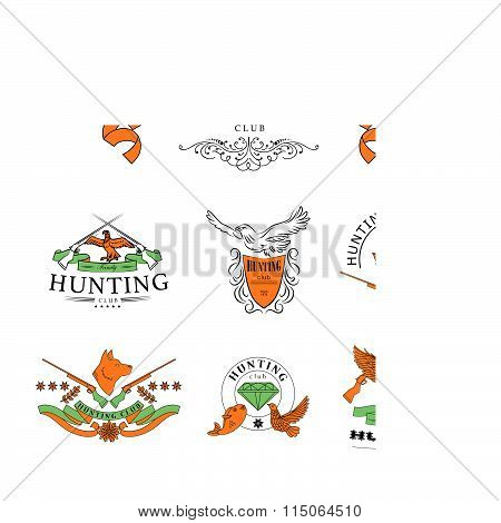 Vector flat logo for hunting club