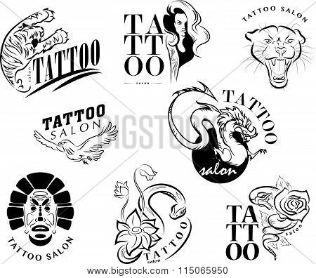Vector collection of tattoo symbols