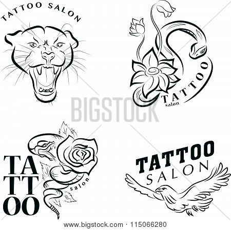 Vector collection of tattoo symbols.