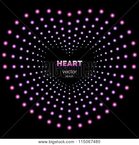 Heart Frame With Light Effects.