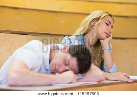Students falling asleep during class during class