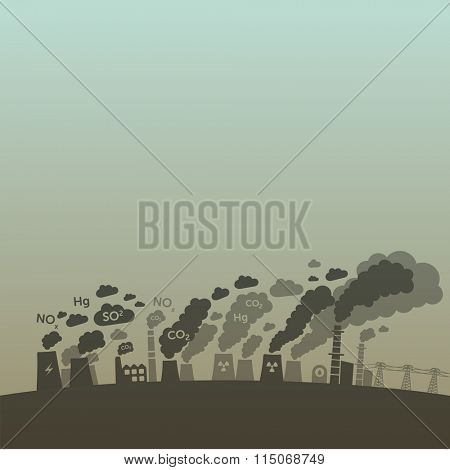 Pollution from old power plants and heavy industry.