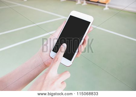 Mobile touch screen phone that is used to communicate anywhere anytime.
