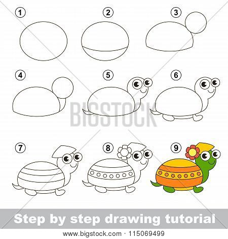Drawing tutorial. How to draw a Turtle