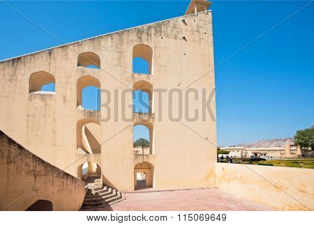 Structure Of Samrat Yantra - The World's Largest Stone Sundial, Observatory Jantar Mantar. Unesc