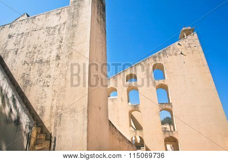 Rustic Walls Of Observatory Jantar Mantar, A Unesco World Heritage Site