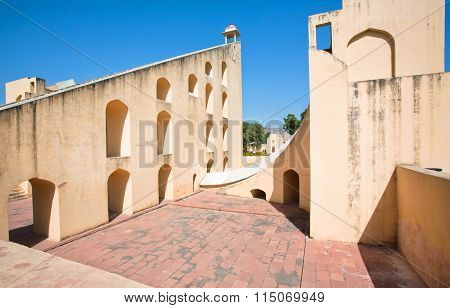Rustic Walls Of Ancient Astronomical Instrument Of Jantar Mantar