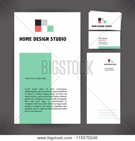 Vector flat architecture company logo